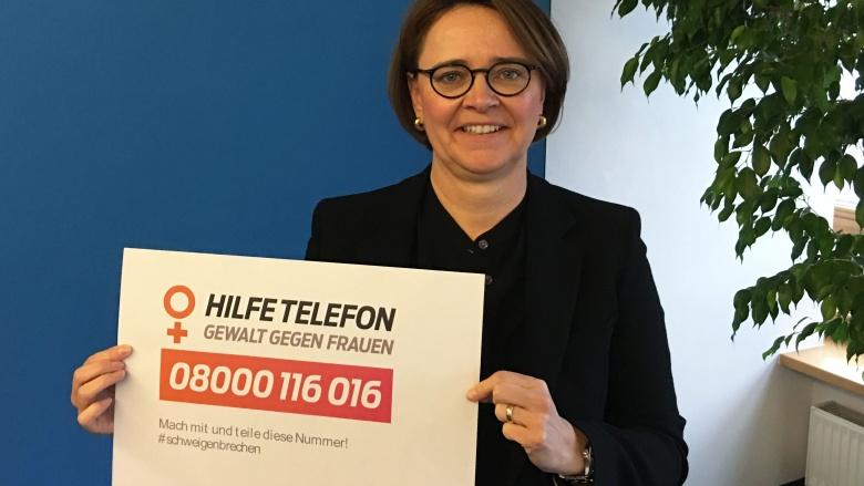 Tag gegen Gewalt an Frauen Plakat Hilfetelefon