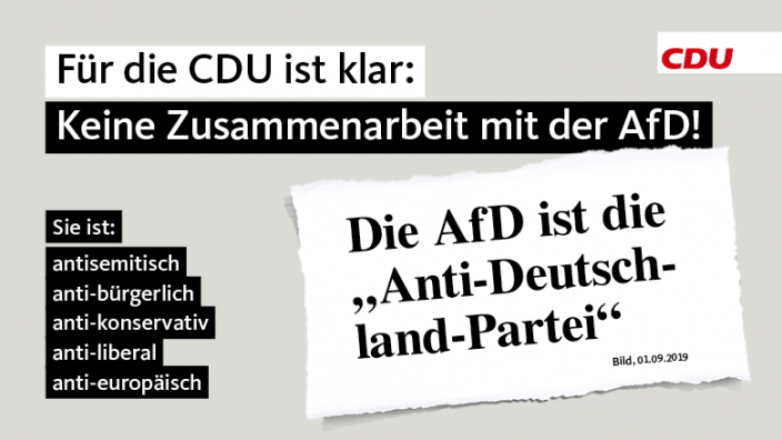 Keine Zusammenarbeit mit der AfD