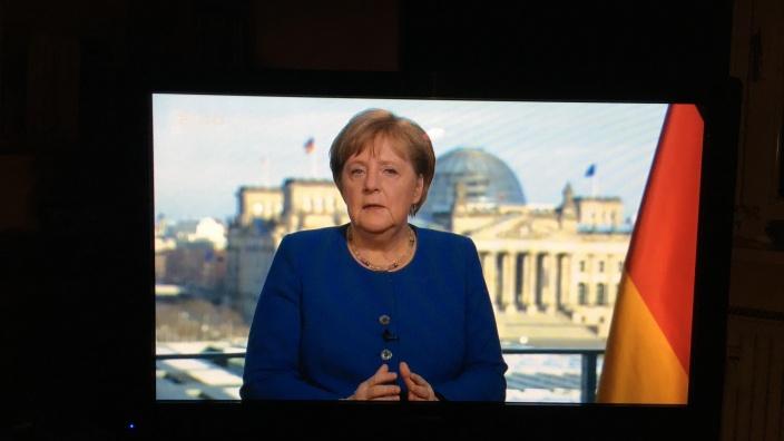 Fernsehansprache von Bundeskanzlerin Angela Merkel